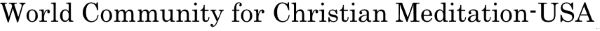 World Community for Christian Meditation - USA